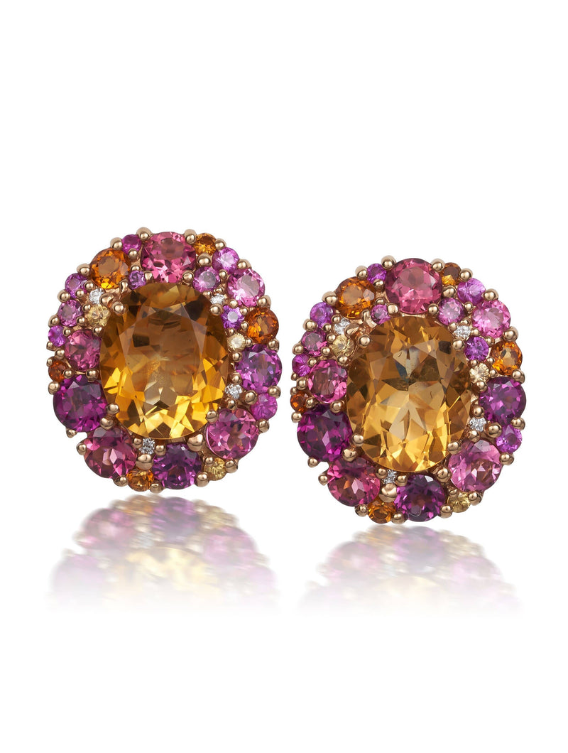 Emotion Citrine Stud Earrings