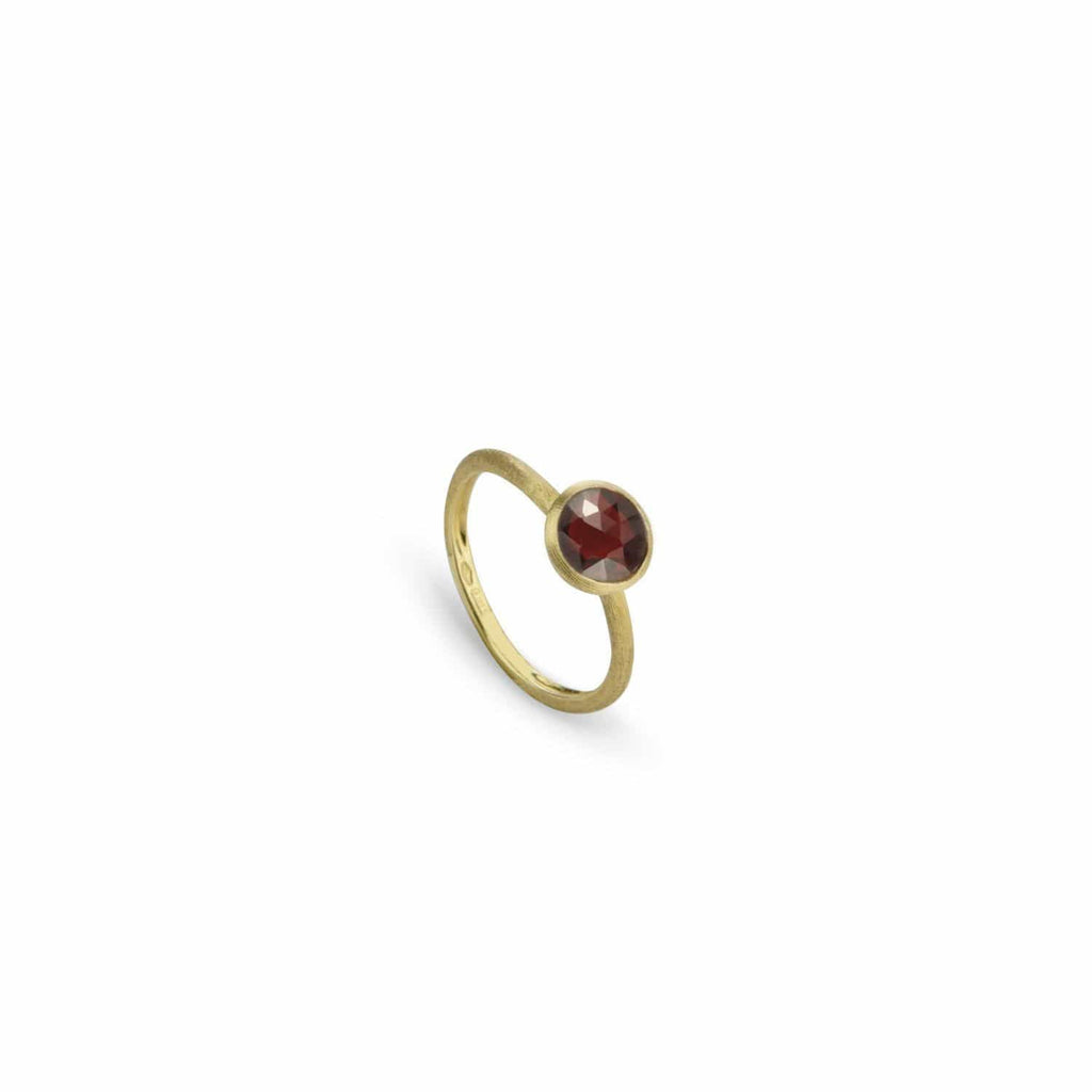 Jaipur Red Garnet Ring