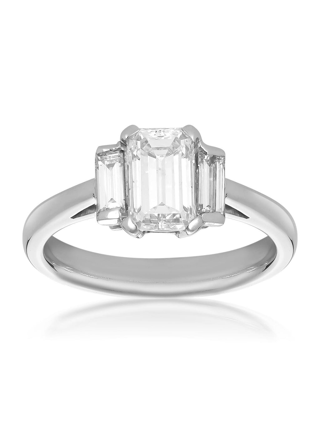 Devotion Emerald Cut 3-Stone Diamond Ring