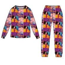 Load image into Gallery viewer, SNUG FIT 2 PIECE LONG SLEEVE PAJAMA SET 100% ORGANIC COTTON - GO LAY LAY GO