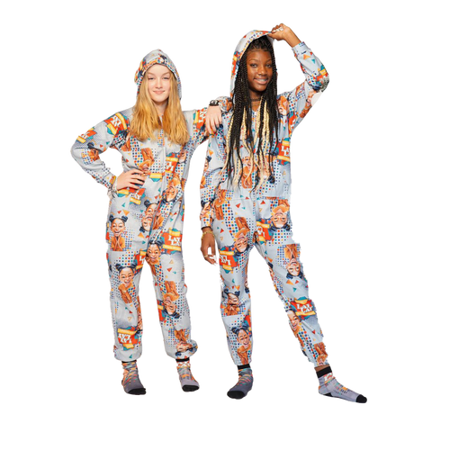 Plush Fleece Onesie Pajama with Hood & Pockets (KIDS) - SHOW STOPPER