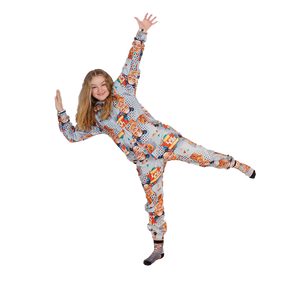 Plush Fleece Onesie Pajama with Hood & Pockets (TODDLER) - SHOW STOPPER