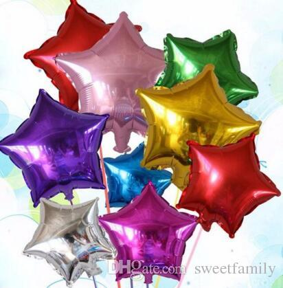 Mylar Foil Star Shape Helium Balloon 18