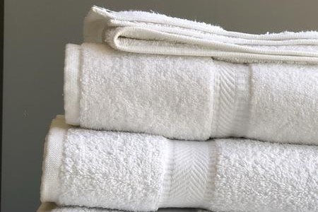 "16x30"" Dobby Border Hand Towels - 4.5 lbs Five Dozen (60 Pieces)"