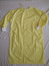 Load image into Gallery viewer, ISOLATION GOWNS - Fluid Resistant, Yellow with Stripes (12 pieces)