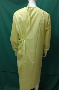 ISOLATION GOWNS - Fluid Resistant, Yellow with Stripes (12 pieces)