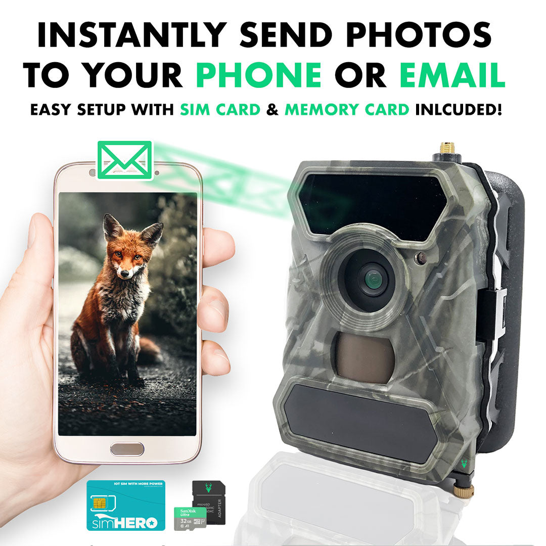 Clear Vision Cellular Wildlife Trail Camera simHERO