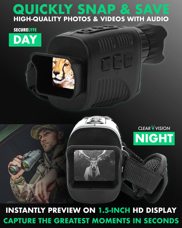 Secure Lyfe Clear Vision Monocular Night Vision