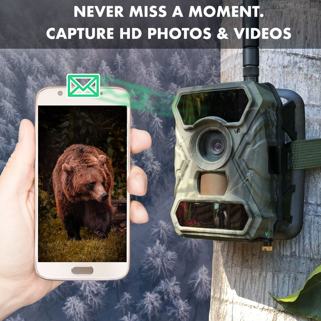 Clear Vision Cam Cellular Wireless Wildlife Trail Camera Text Message