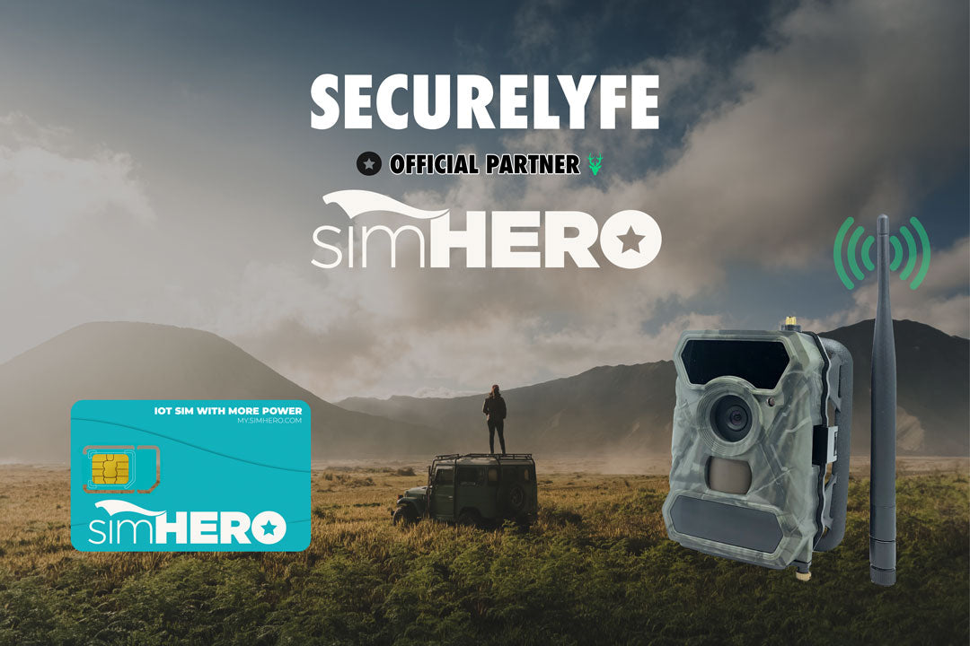 Secure Lyfe Clear Vision Cellular Trail Camera simHERO