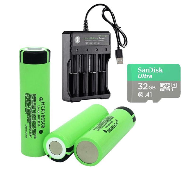 Battery Bundle (Battery + Charger + Memory Card) - Clear Vision™ Scope