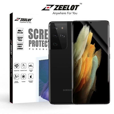 ZEELOT Samsung S21 Ultra PureGlass 3D Clear LOCA Corning Tempered Glass Screen Protector