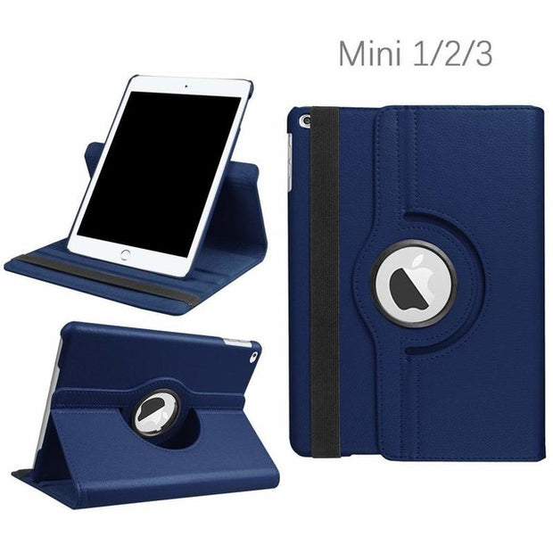 Apple iPad Mini 1 / 2 / 3 Luxury PU Leather Rotary Flip Case
