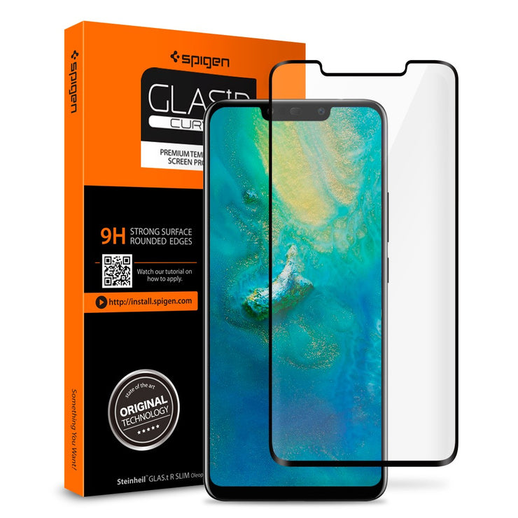 Spigen Huawei Mate 20 Pro Curved Screen Protector GLAS.tR - Mobile.Solutions
