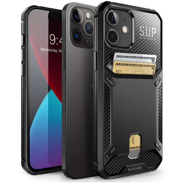 Supcase iPhone 12 / 12 Pro 6.1 (2020) UB Vault Slim Protective Wallet Case with Built-in Card Holder