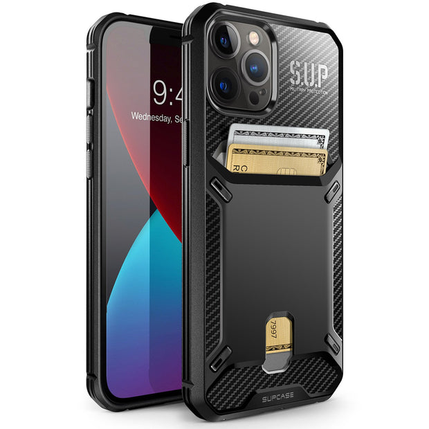 Supcase iPhone 12 Pro Max 6.7 (2020) UB Vault Slim Protective Wallet Case with Built-in Card Holder
