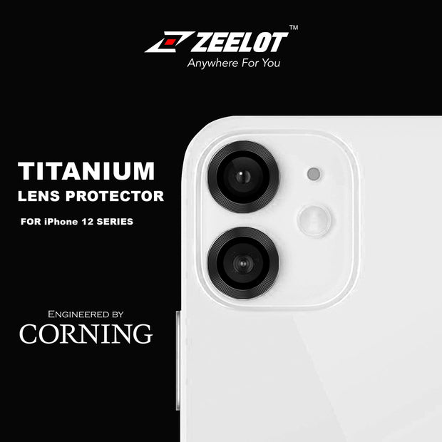 Zeelot iPhone 12 6.1 / 12 Mini 5.4 (2020) / 11 6.1 (2019) Titanium Steel with Corning Glass Lens Protector (2 Camera)