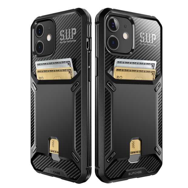 Supcase iPhone 12 Mini 5.4 (2020) UB Vault Slim Protective Wallet Case with Built-in Card Holder