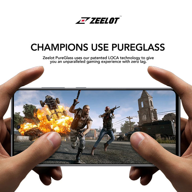 ZEELOT Samsung A71 PureGlass (2.5D) Full Coverage Tempered Glass Screen Protector