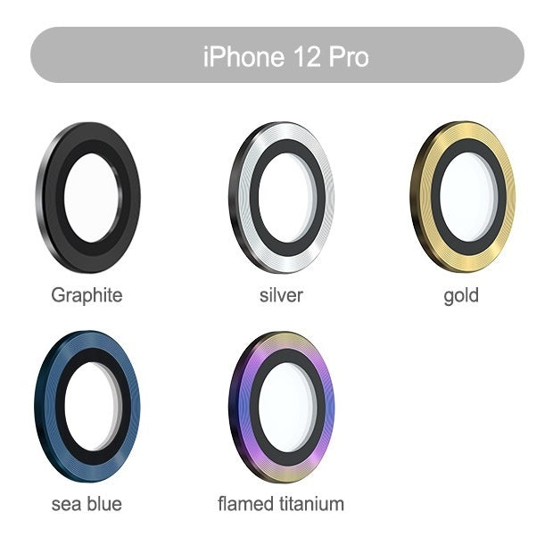 DEVIA iPhone 12 Pro 6.1 (2020) / 11 Pro Max 6.5 / Pro 5.8 (2019) Gemstone Lens Glass Protector (3 Pieces)