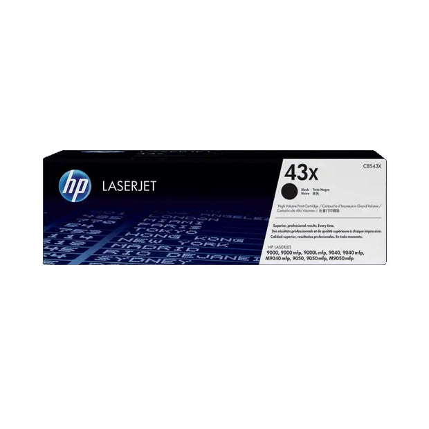 HP 43X High Yield Black Original LaserJet Toner Cartridge (C8543X)