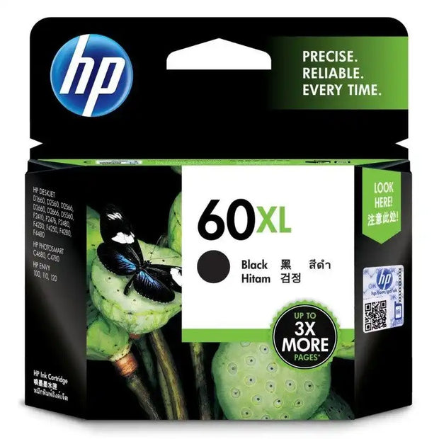 HP 60XL (High Yield) Black Ink Cartridge (CC641WA)