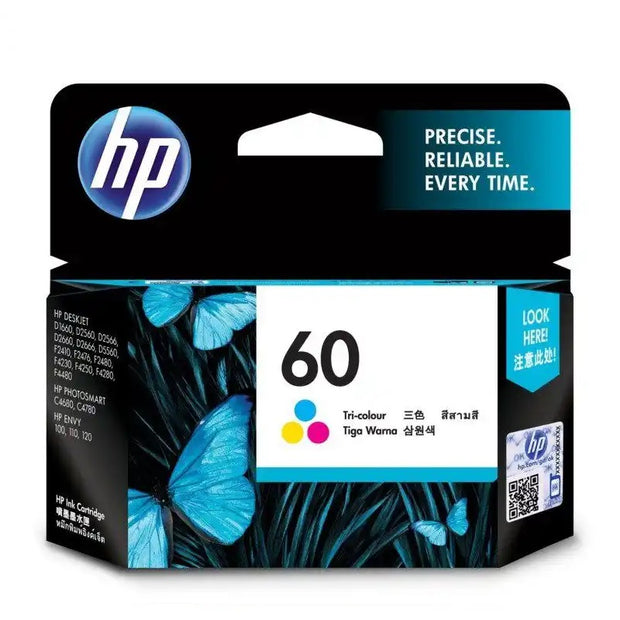 HP 60 Tri-Color Ink Cartridge (CC643WA)