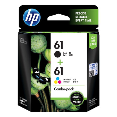 HP 61 Combo-pack Black/Tri-Color Ink Cartridges (CR311AA)