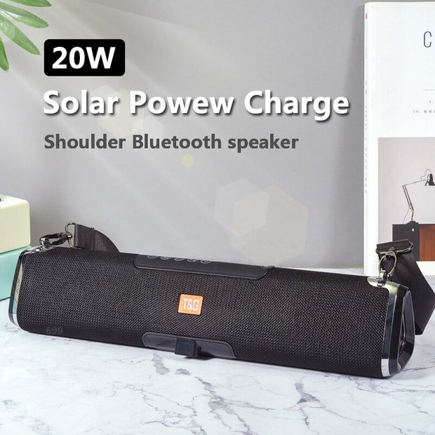 T&G Solar Charging Outdoor Wireless Bluetooth Speaker TG178