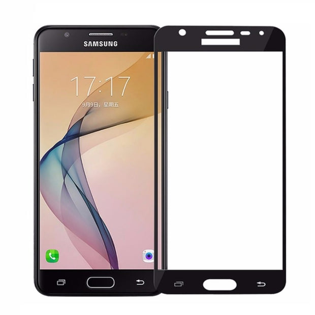 Samsung J7+ Plus (2017) Full Coverage Tempered Glass Screen Protector