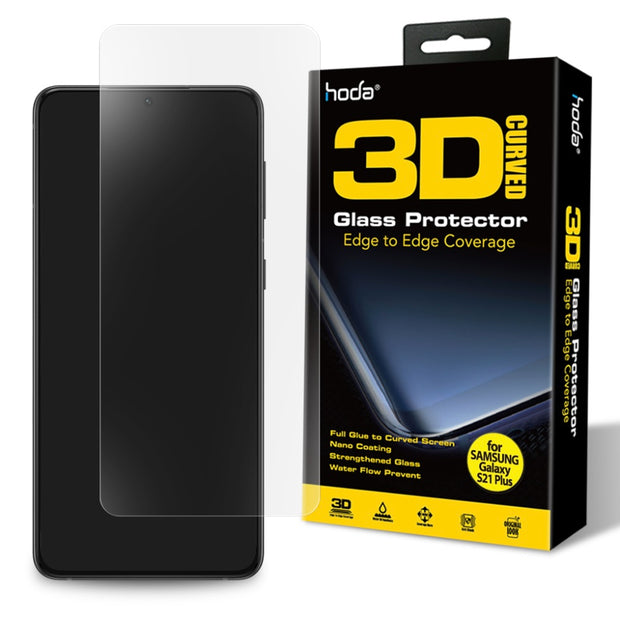 Hoda Samsung S21+ Plus Full Coverage 3D UV Full Glue Tempered Glass Screen Protector