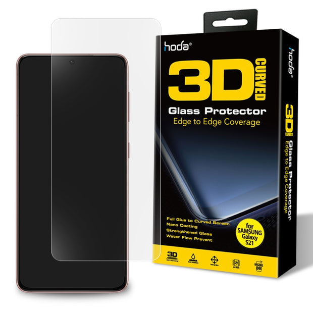 Hoda Samsung S21 Full Coverage 3D UV Full Glue Tempered Glass Screen Protector