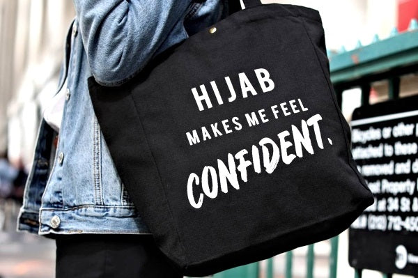 Changing the Hijab Narrative - Introducing Our 'Hijab Makes Me Feel' Tote Bags!