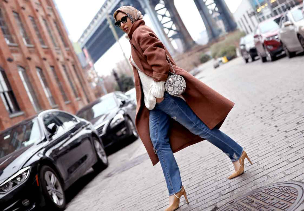 How to Make an Oversized Coat Look Chic & Not Frumpy