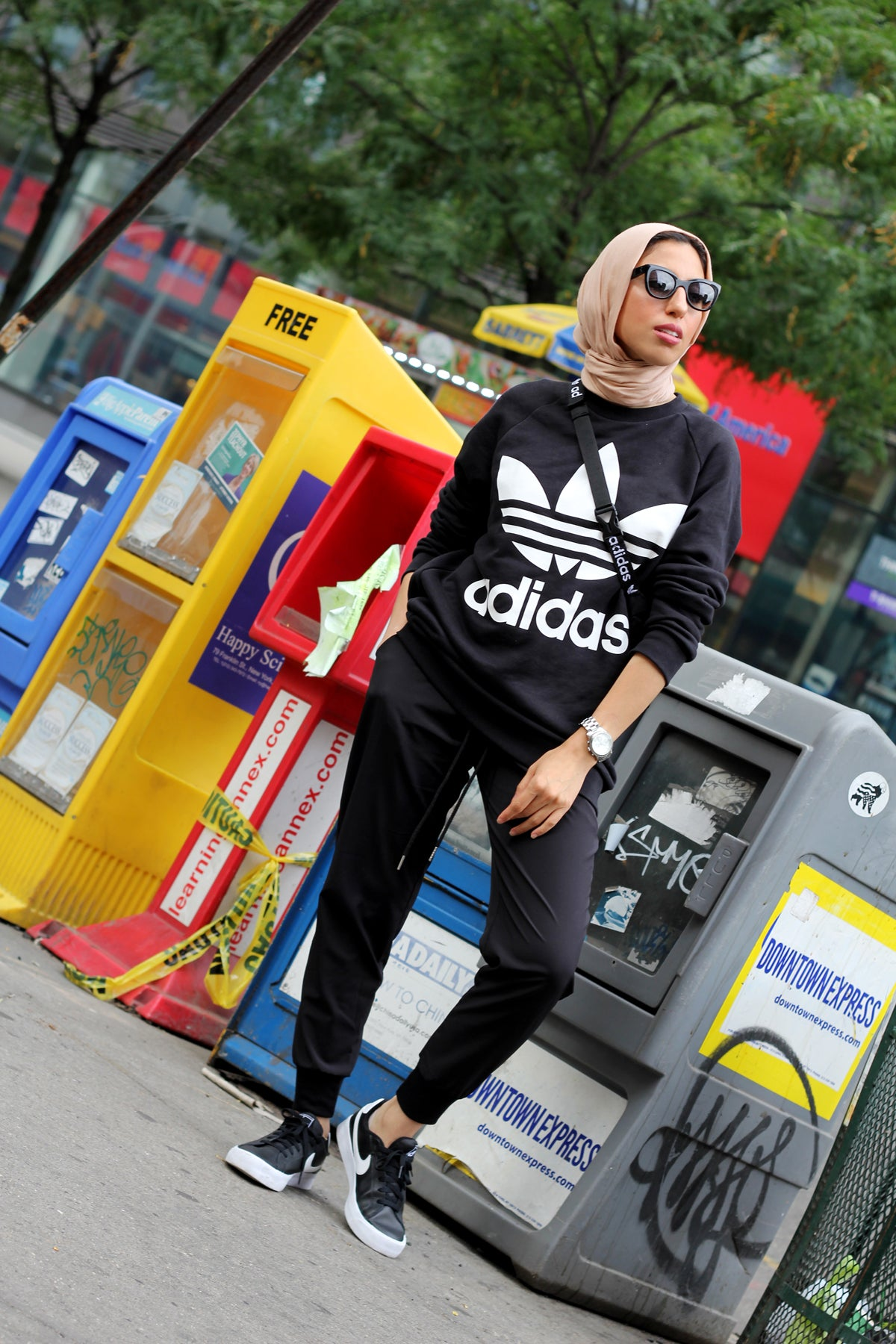 Nyc Street Style In Adidas Originals My New Hijab Style Haute