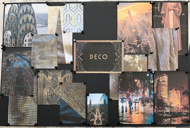 Art Deco mood board