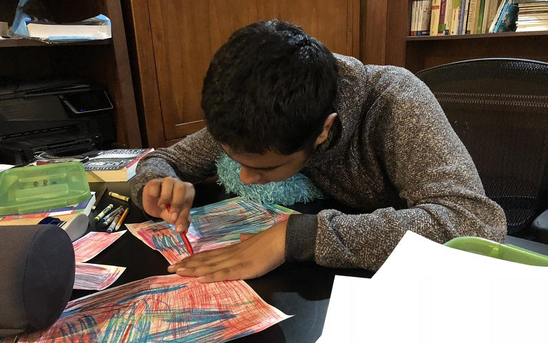 D, coloring his masterpieces