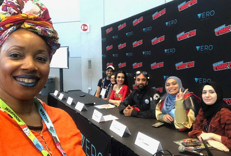 Dr. Shamika Mitchell at Comic-Con