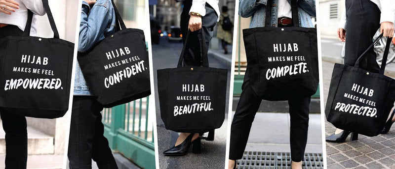Hijab makes me feel tote bags