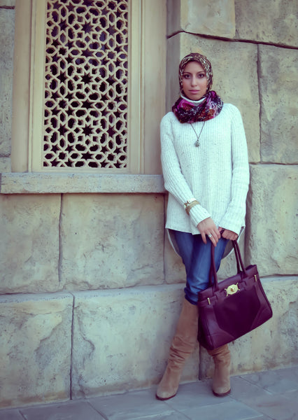 Hh Style Guide Simply Purrfection Scarf Slouchy Sweater
