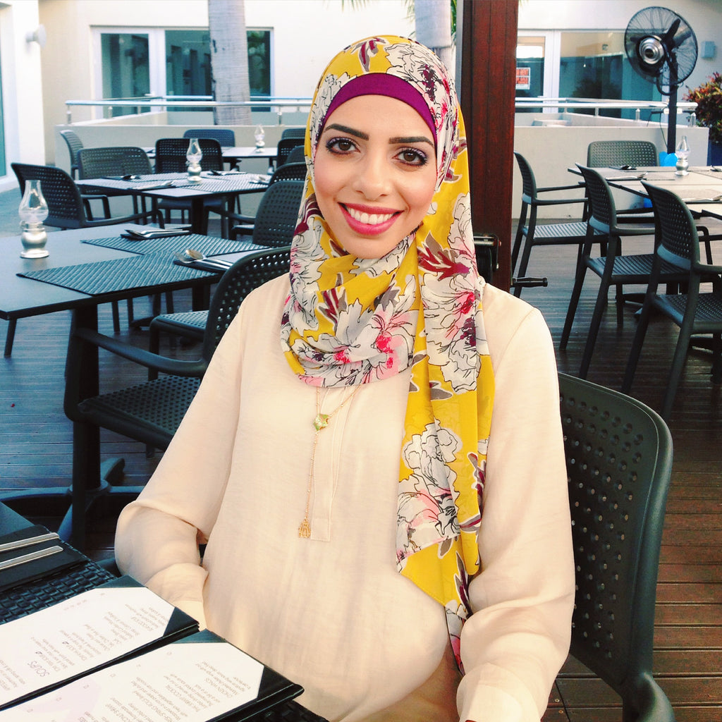 HH Spotted Club Haute Hijab Heba Jay Citrine Forever Scarf