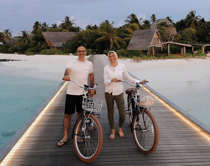 Melanie and Ahmed in the Maldives