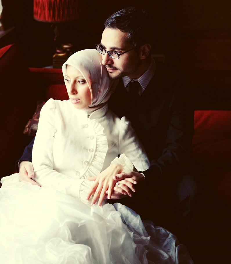 Melanie and Ahmed at their wedding
