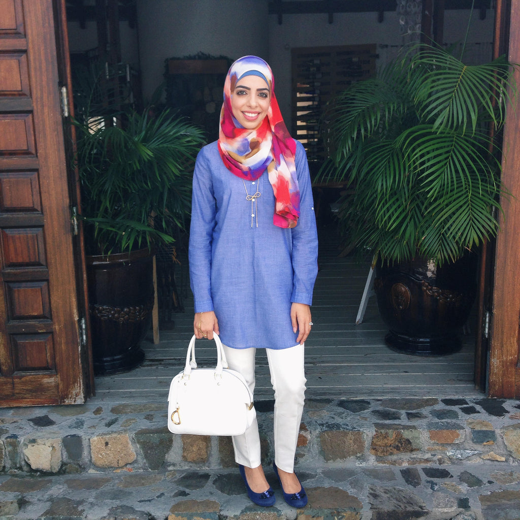 Heba Jay Spotted Photo HH Spotted Club Haute Hijab Melt Away Wrap