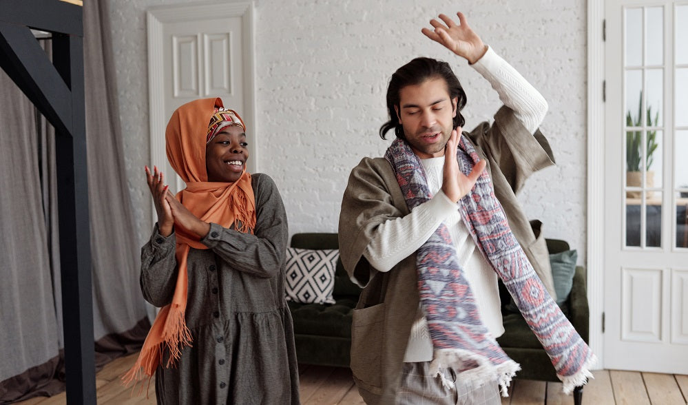 Muslim couple dancing