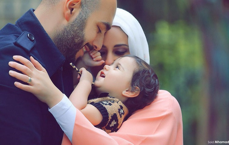 Muslim dad and baby
