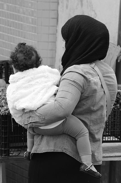 Muslim mom with child