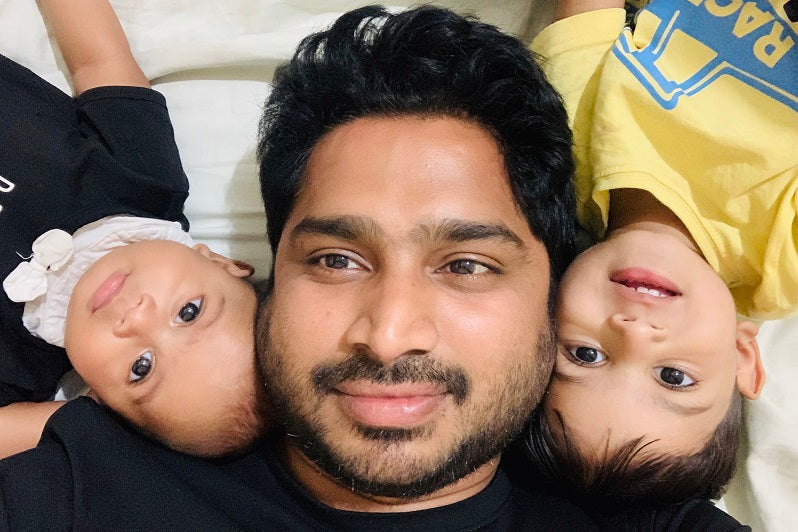 Naseeb Mohammed and his kids