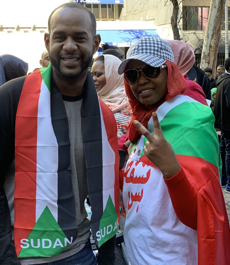 Mahmoud Yousif at a protest for Sudan