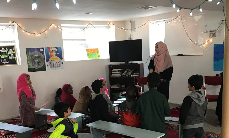 Khadija Saad teaching Sunday school
